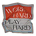 Work Hard, Play Hard - Tangerine & Cornflower image