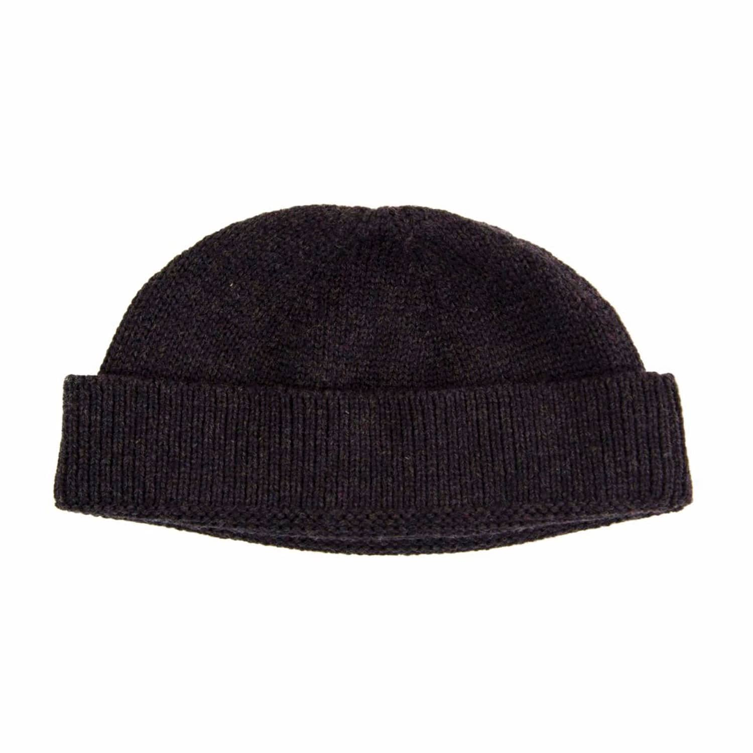 166bf7efda832 Charcoal Solid Wool Fisherman Beanie image
