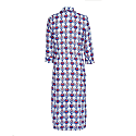 Dress Shirt With Tulip Design In White & Blue image