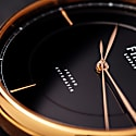 Firle Sennen Automatic in Black & Rose Gold With Black Faux Croc Strap | Swiss Calibre: STP1-11 image