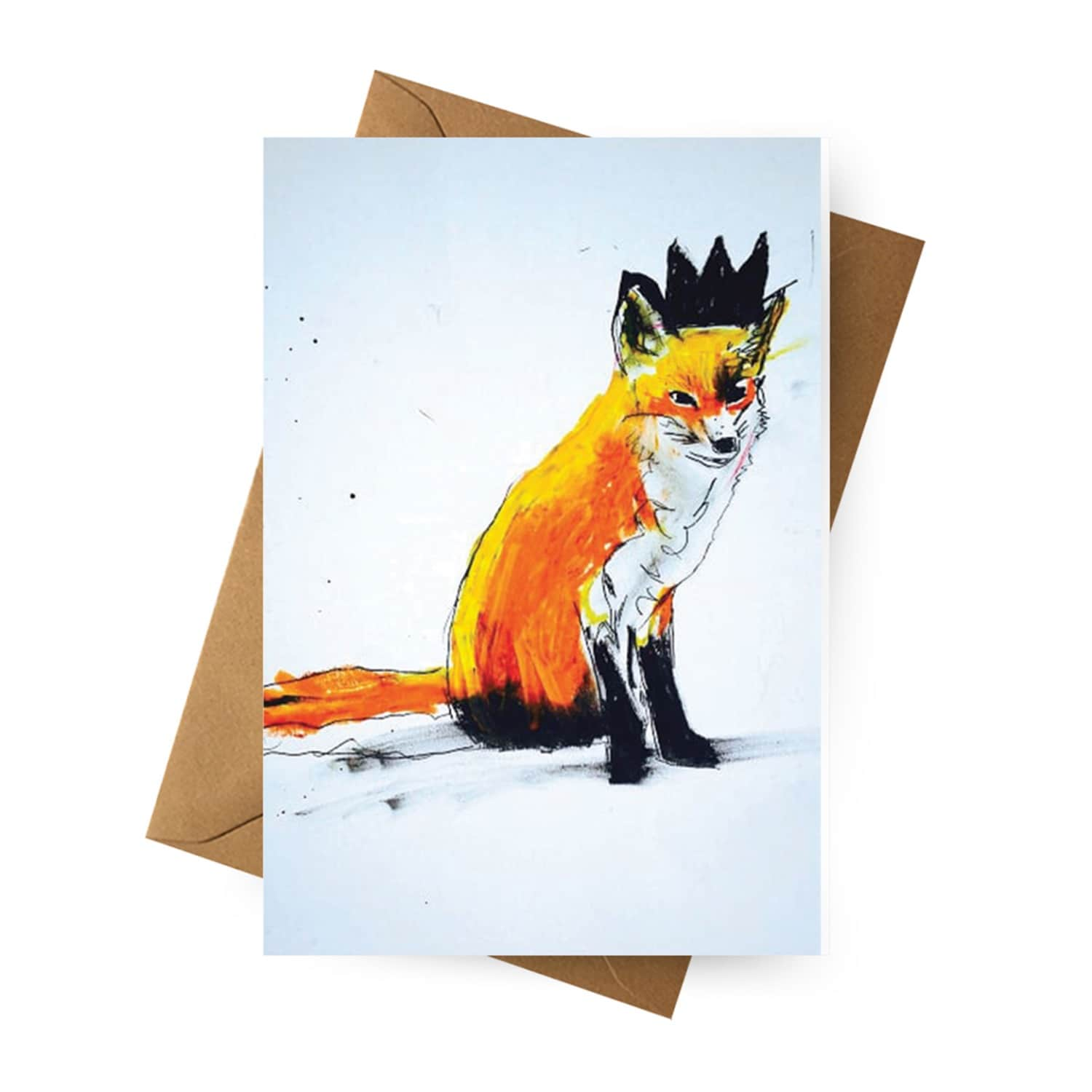 Set Of 5 Assorted Illustrated Greeting Cards Michael Gurhy Wolf