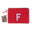 Personalised Medium Classic Leather Clutch Bag - Red / Pink image