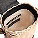 Parpali Black Handmade Wicker Basket Shoulder Bag image