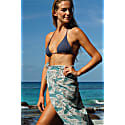 Lotty B Sarong In Silk Crepe-De-Chine Whale - Monochrome image