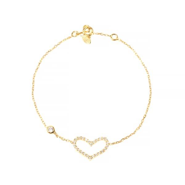 Open Heart Bracelet Gold