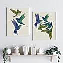 Antique Hummingbirds Ii Cream - Fine Art Print A4 image