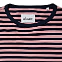 SS19 Simple Stripe T-Shirt Navy/Dusty Cedar image