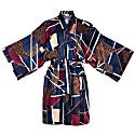 Multicolor Short Kimono Style Wrap Dress image