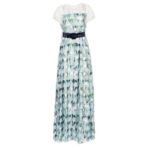 NISSA Maxi Dress with Floral Print