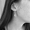 Pollara Gold Vermeil & Cabouchon Aqua Chalcedony Earrings image