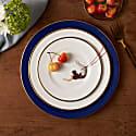 Trapeze Girl Cobalt Blue Dinner Plate image