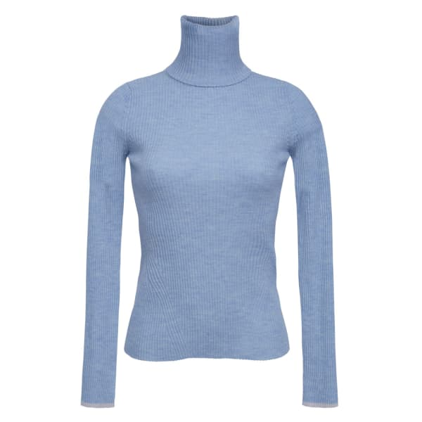 Eleven Six Edie T-neck Sweater - Powder Blue
