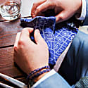 Airfix - Blue - Hand Rolled Silk Pocket Square image