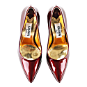 High Shine Leather Pointy Pumps image