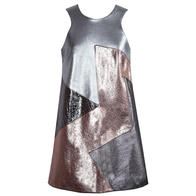 31573813 Metallic Patchwork Indigo Dress | Florence Bridge | Wolf & Badger