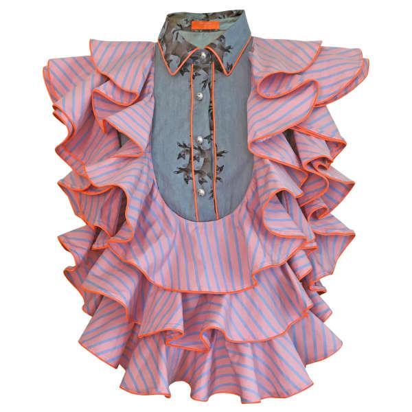 SUPERSWEET X MOUMI Manooshby Shirt Candy Stripe