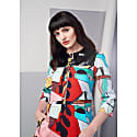 Mia Print Dress With Patent Leather Collar image