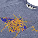Embroidered Bee Sweatshirt in Blue Marl image