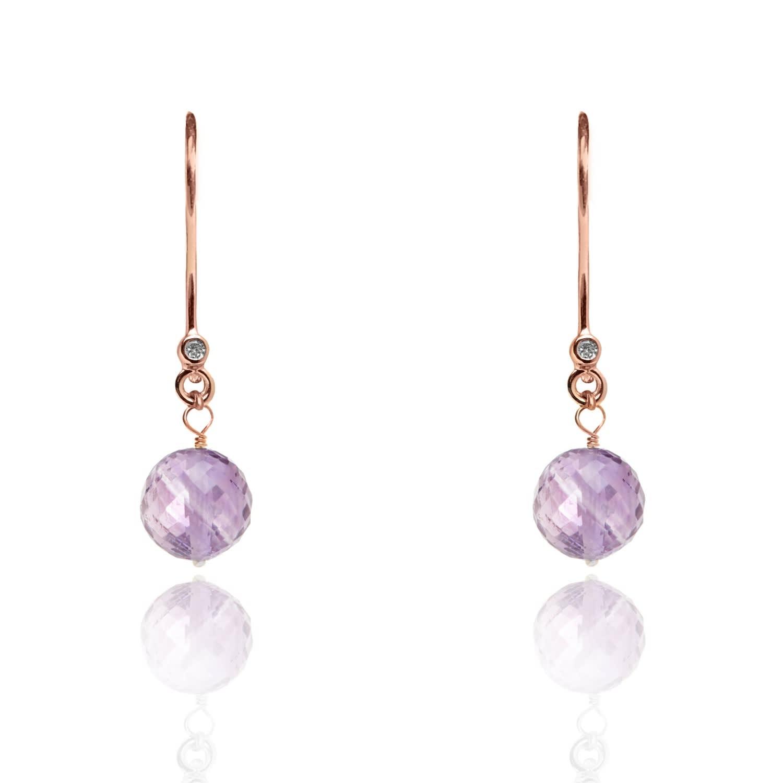 Amethyst Drop Earrings February Birthstone by Kaizarin