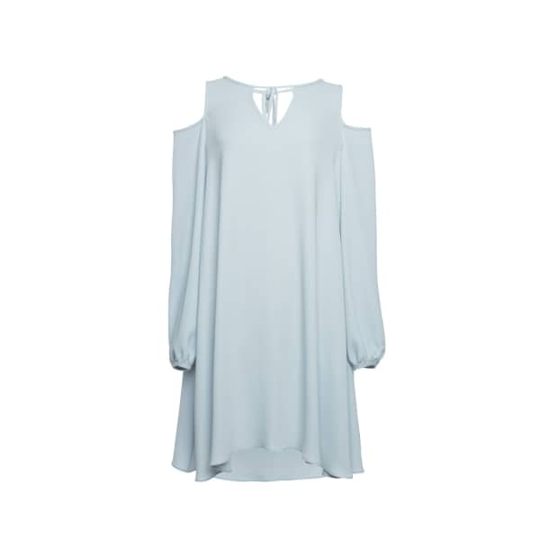 TOMCSANYI Cibulkova Cold Shoulder Dress Cerulean