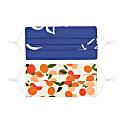 Set Of Two Pleated Masks Brushstroke Dove & Mini Summer Oranges image
