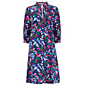 Long Beach Dress - Tropical Silk Print image