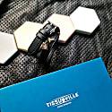 Illusionist Leather & Silver Wrap Bracelet - Men image