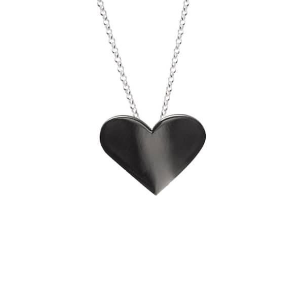 EDGE ONLY Black Heart Pendant