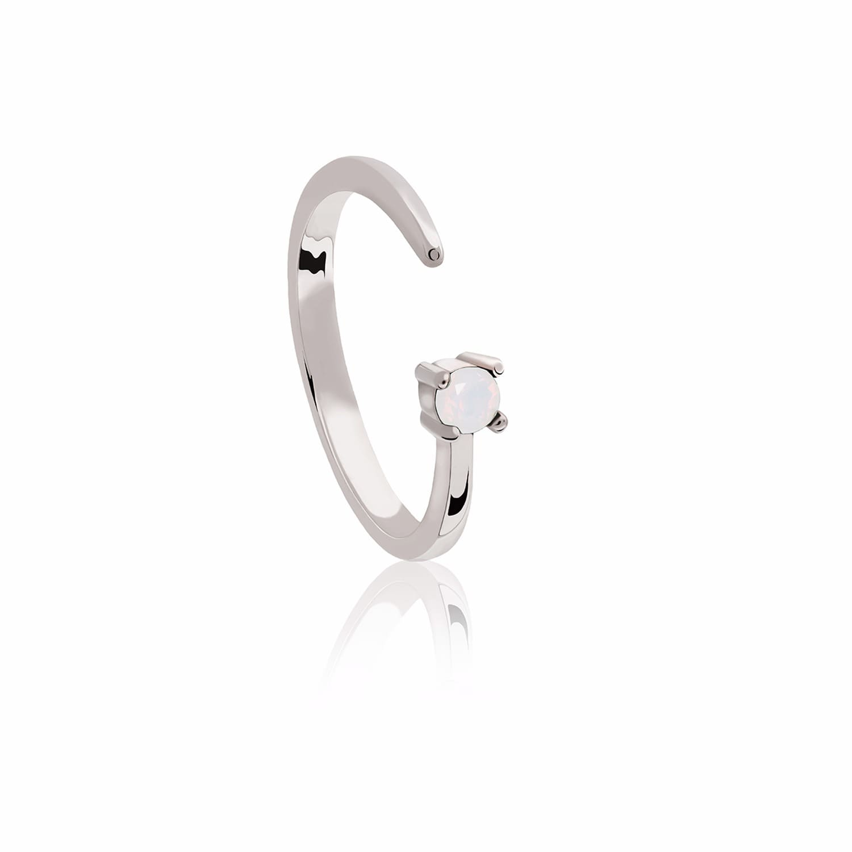 Libra Zodiac Ring in Silver | Astrid & Miyu | Wolf & Badger