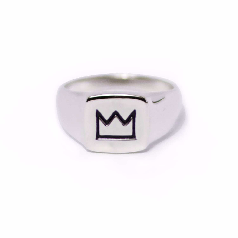36585b7c1f64f Silver Crown Ring by Serge DeNimes