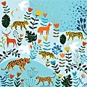 Silk Bandana Of Summer Animal Paradise image