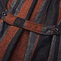 Musta2 Men's Coat - Orange Multi-Stripe Tweed image