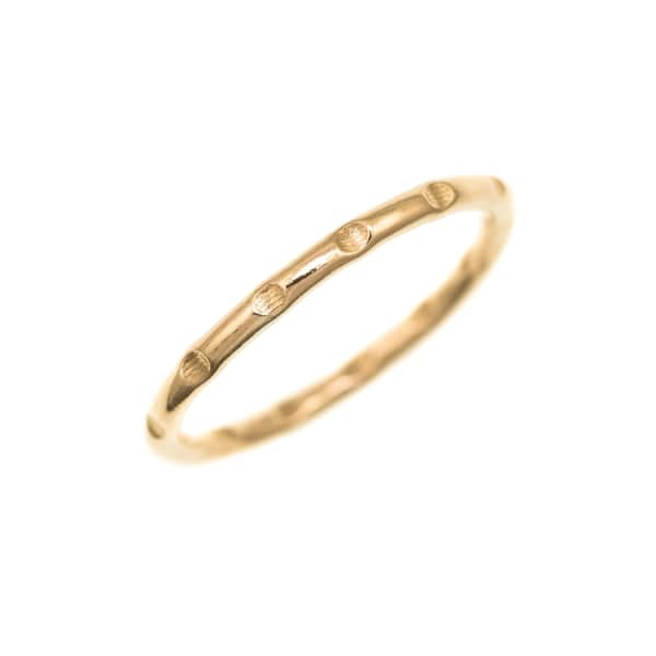 FEATHER+STONE Gold Bamboo Ring