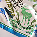 Silk Scarf With Reindeer In Forest image