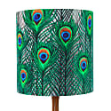 Peacock Feathers Lampshade - Small image