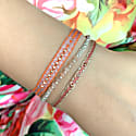 Grey Diamond Bracelet In Pink And Beige Tones image