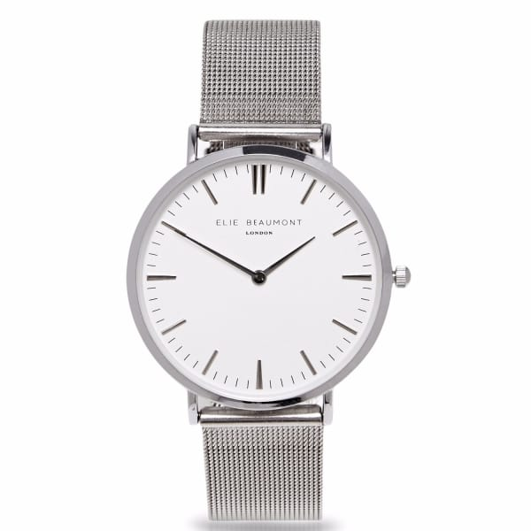 Elie Beaumont Oxford Small Silver Mesh