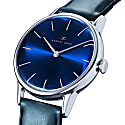 August Berg Serenity Silver Classic Deep Blue - Blue Leather 32mm image