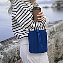 Water Metal Handle Bucket Bag - Royal Blue image