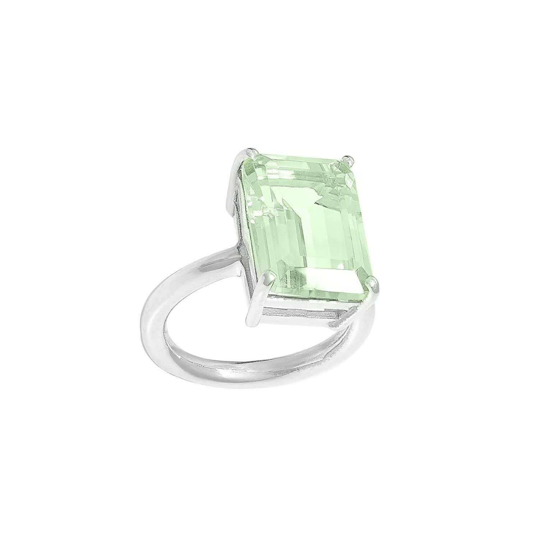 Green Amethyst Ring