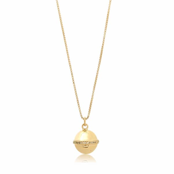 Edge Of Ember  Globe Gold Necklace