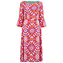 Bearob Dress Pink Geometric Print image