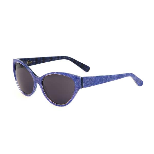 HEIDI LONDON Denim Print Cateye Sunglasses Blue