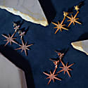 Petite Star Burst Drop Earring Rosegold image