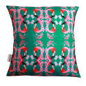 Fanciful Flamingos & Flowers Cushion image