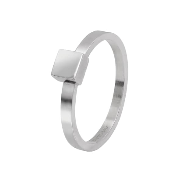 Square Stacking Ring Silver