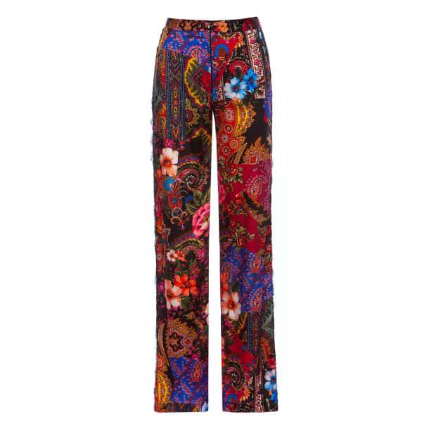 Nissa  Lace Side Stripe Satin Trousers
