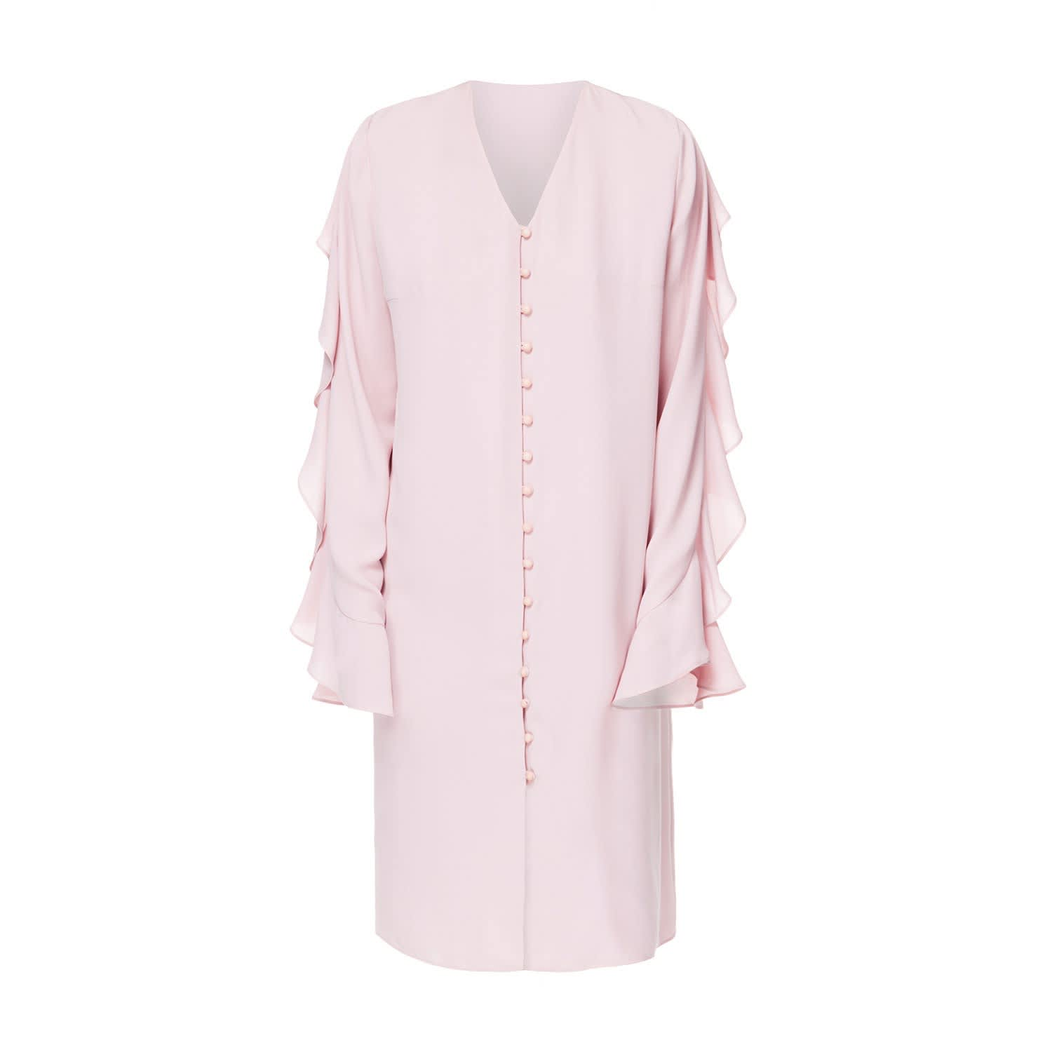 81c220a65cff Flo Long Sleeve Midi Dress In Blossom Pink | DIANA ARNO | Wolf & Badger