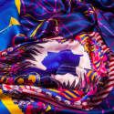 Blason Blue Silk Scarf image