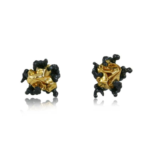KAROLINA BIK JEWELLERY Naphta Earrings Black & Gold
